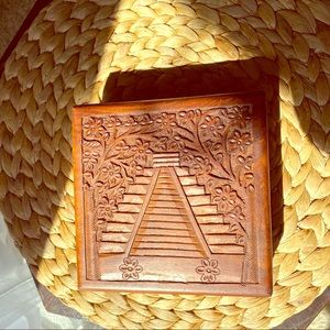 Wooden Box w/ Carved Design